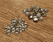Pack of 20 x 11mm self cover metal buttons