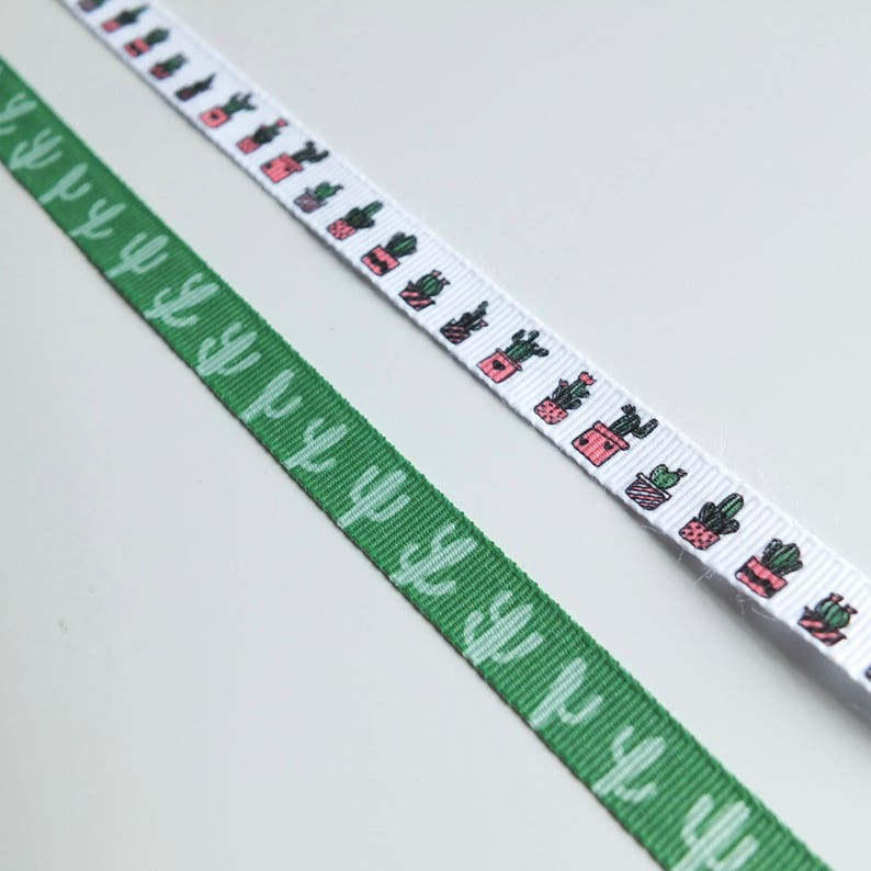 10mm multi-coloured heart print ribbon in two metre lengths