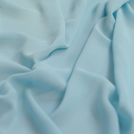 Pastellfarben blau Uni Meterware Polyester schiere Chiffon   Etsy 5cf7d7e8b3