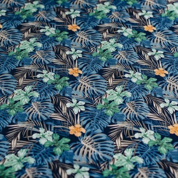pale dusky pink leaf leaves fine 100/% COTTON poplin fabric material craft dress
