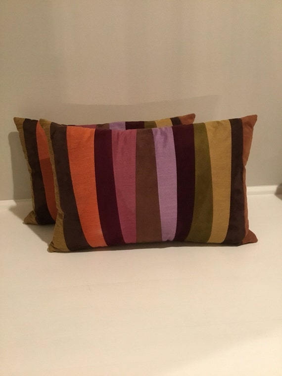 Pair Crate And Barrel Decorative Pillows Etsy Impressive Crate And Barrel Decorative Pillows