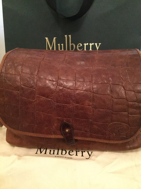 Mulberry Leather Bag. Vintage early 1980s. Large M