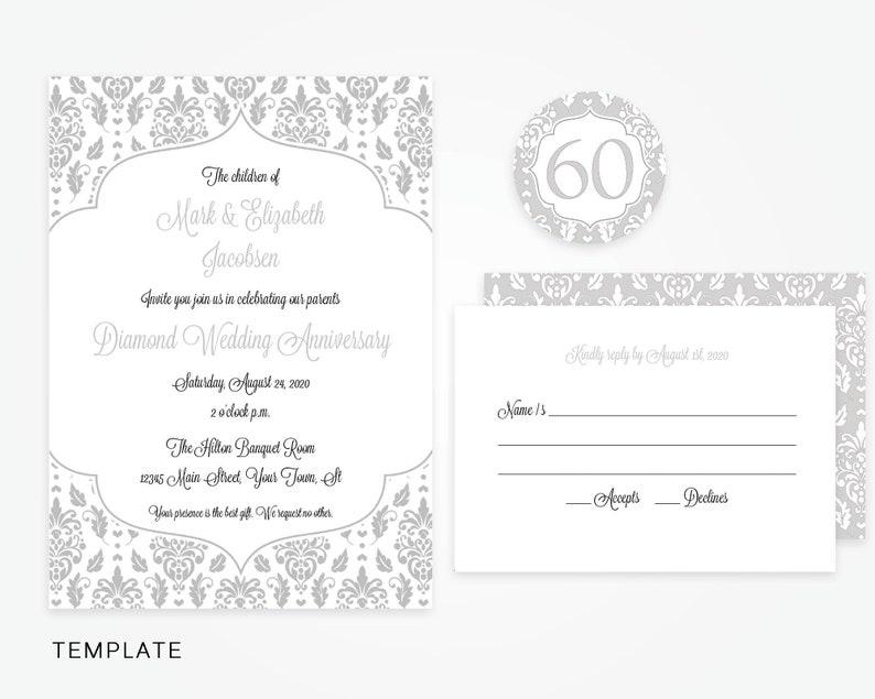 60th Anniversary Invitation Template