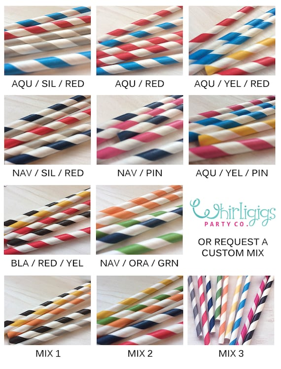 20 Train Birthday Party Straws - Railroad Crossing OR Birthday Crossing  Straws - Train Party Straws - Your choice of colors!