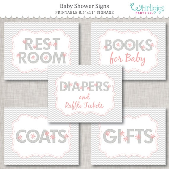 picture about Baby Shower Sign in Sheet Printable named Little one Shower Indications PDF Comprehensive Sheet Printable Electronic Documents as a result of