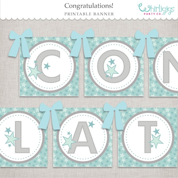 graphic about Printable Whirligig Patterns identified as Congratulations Banner Printable Report by means of Whirligigs Get together Co