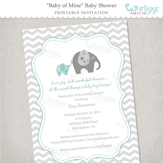 Elephant Baby Shower Invitation Of Mine
