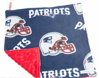 a9ecb67abed New England Patriots Baby Lovey Blanket - Patriots Football Red and Navy  Snuggle Blanket 15