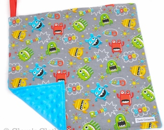 """Monsters Baby Lovey Blanket 