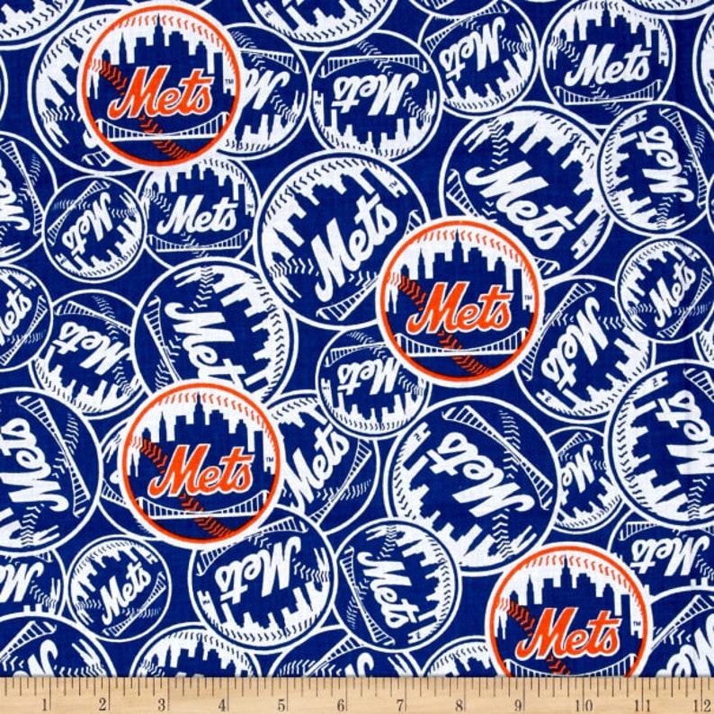 Ready to Ship New York Mets Baby Burp Cloth NY Mets Blue and Orange Baseball Burp Cloth