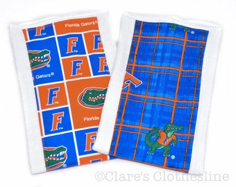 Baby Burp Cloth - University of Florida Gators Burp Cloth - 2 fabric choices - Ready to Ship