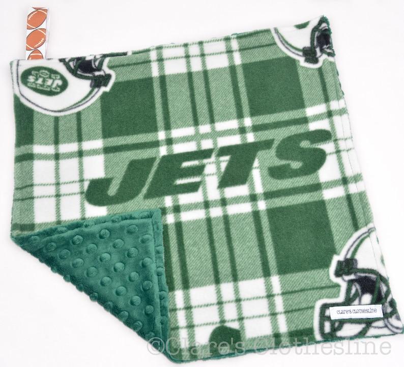 4b0f869ce37 New York Jets Baby Lovey Blanket NY Jets Football Green