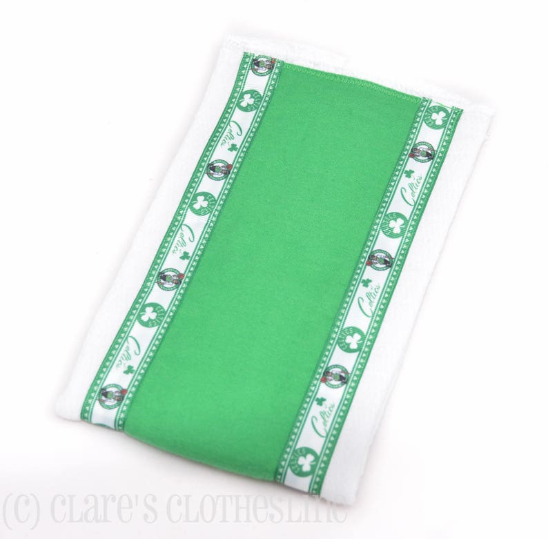 Boston Celtics Baby Burp Cloth Green Celtics Basketball Ribbon Burp Cloth Ready to Ship