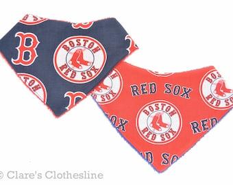 Boston Red Sox Baby Bandana Bib | Red Sox Baseball Drool Bib | Boston Sports Baby Gift | Your Choice of Fabric | Ready to Ship