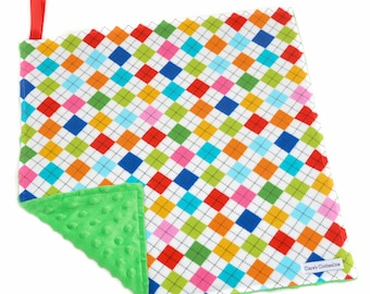 """Argyle Baby Lovey Blanket 