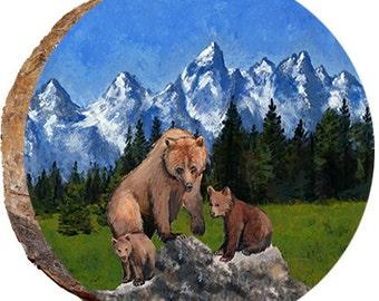 DAB035 Tetons with Three Bears