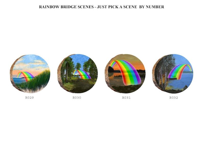 Order Your Chosen Scene By Number D027 Great Pyrenees in Rainbow Bridge Treasures Scene