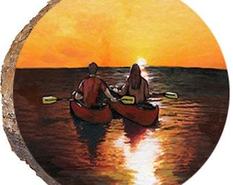 Kayakers at Sunset - DPS173