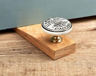 Olive Oil Oak Wedge Door Stop