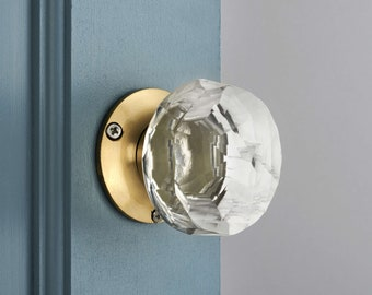 Bon Glass Internal Mortice Door Knobs With Antique Style Base