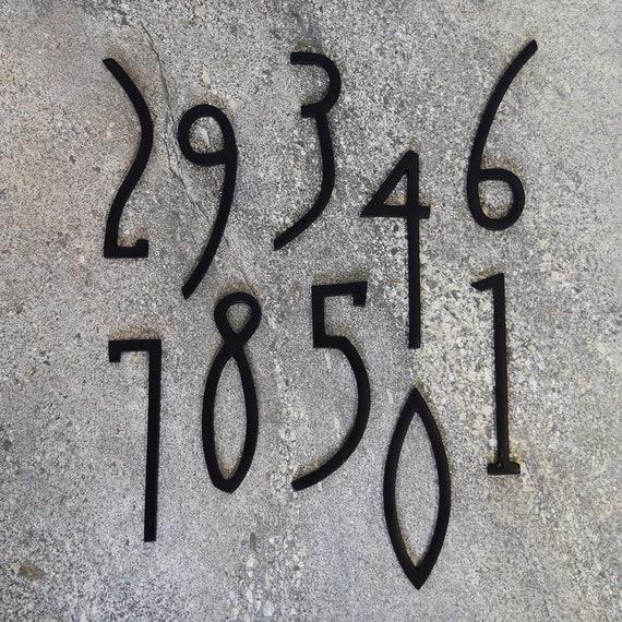 Pushka Home Art Deco Matte Brass House Door Numbers