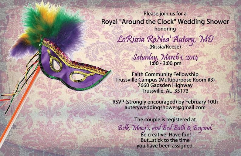 1fa64bfbcbb8 Wedding Shower Mardi Gras Birthday Masquerade Bridal