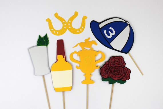 Kentucky Derby Photo Booth Props Set Of 11 Includes Roses Etsy