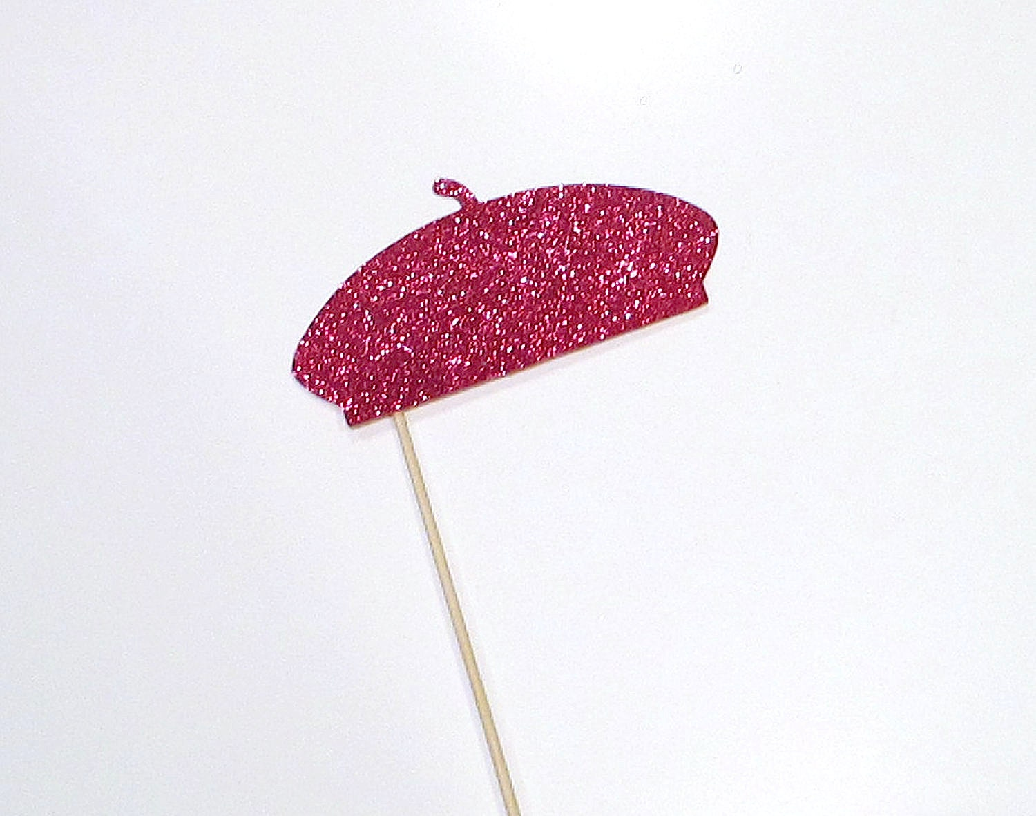 2ae53088a308c Photo Booth Props FRENCH BERET Pink Glittered French Beret