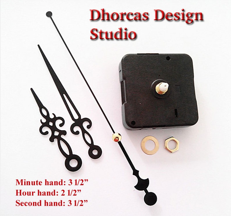Quartz Clock Motor (#07) kit for wall clock replacement, movement and black  3 5