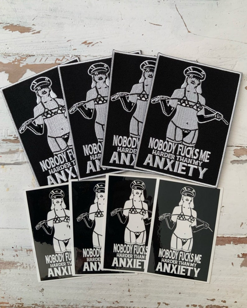Anxiety Warrior embroidered patch  sticker image 0