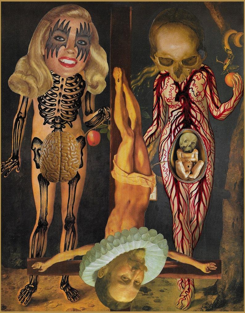 Ramon Maiden original mix media collage image 0