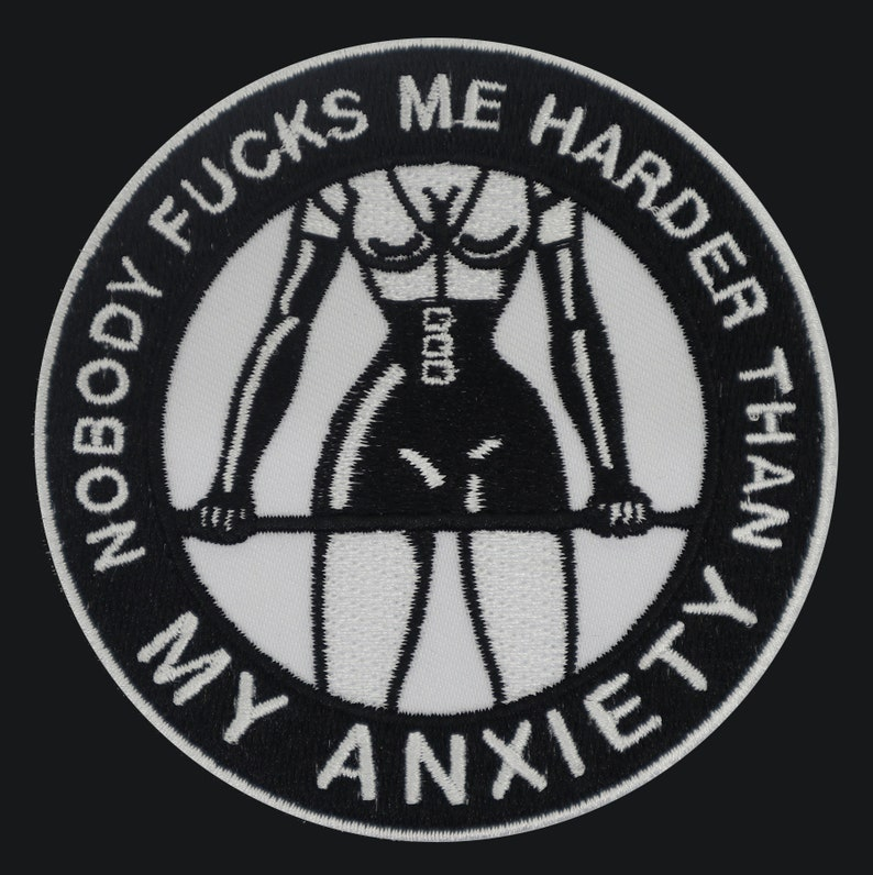 Anxiety Warrior embroidered patch image 1