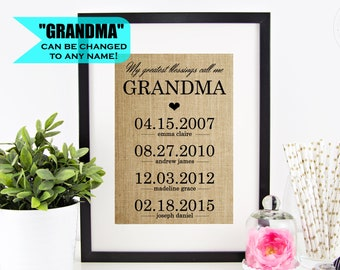 Mothers Day Gifts For Grandma Etsy