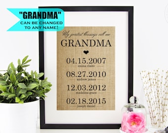 grandma gift personalized christmas gift for grandma christmas gifts for grandma from granddaughter nana gift for grandmother gift sign