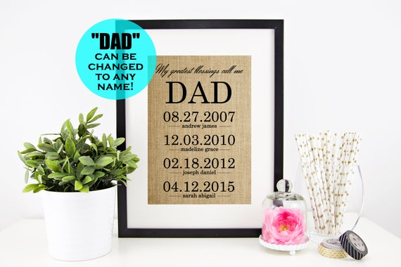 Fathers Day Gift From Daughter Personalized Gifts For Dad Etsy