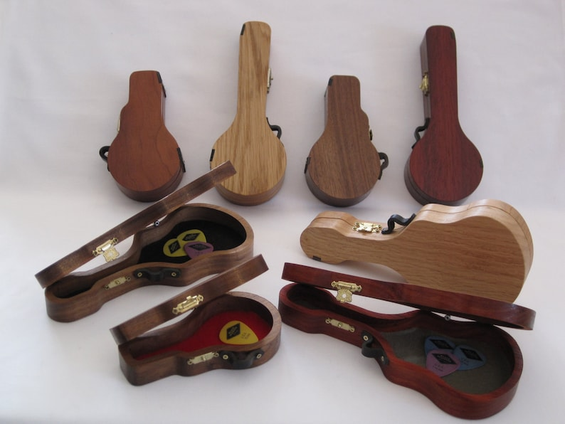 Pick Holder Pick Case Wooden Pick Holders for Guitars image 0