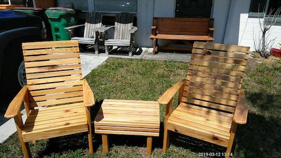 Highback Slat Style Cypress Chairs