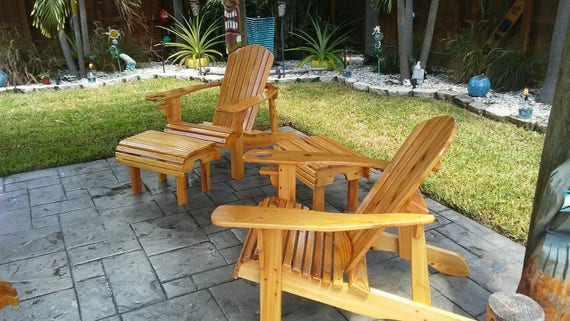 Cypress Adirondack Chair Set