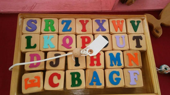 Alphabet Blocks and Wagon Set