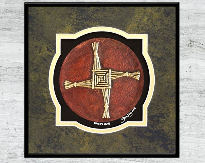 Brigid's Cross - Cast Paper - Celtic Blessing - Irish art - St. Brigid - Irish Blessing - Brigit - Brighid - Tuatha Dé Danann