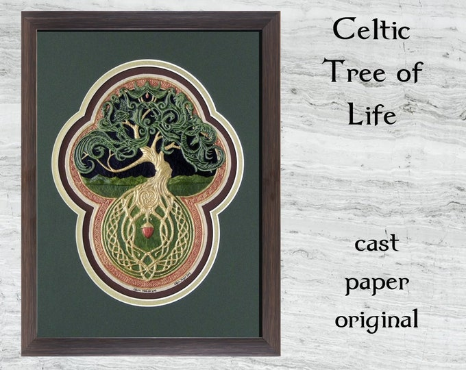 Celtic Tree of Life- Cast Paper