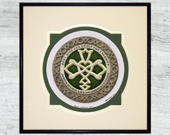 Celtic Wedding Knot  -Cast Paper