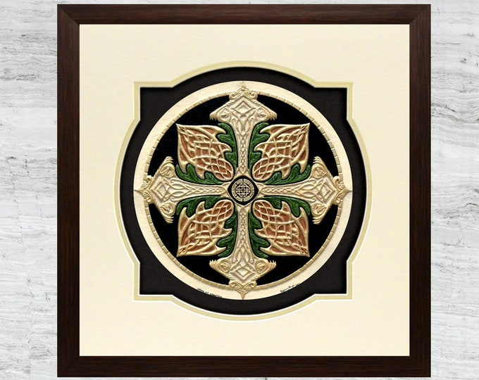 Celtic Cross of Creation - Cast Paper