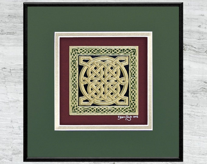 Celtic Square - Cast Paper