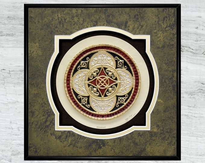 Celtic Ring of Prosperity - Cast Paper