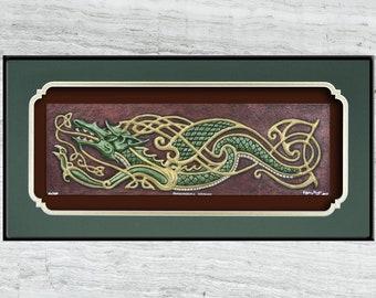 Psycho-Celtic Dragon - Cast Paper
