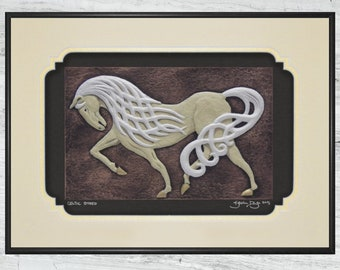 Celtic Steed  - Cast Paper