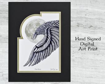 "Moon Raven - Frames Digital Print 11"" x 14"""