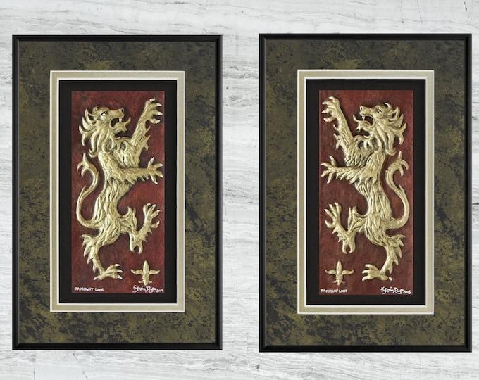 Rampant Lion - Cast Paper