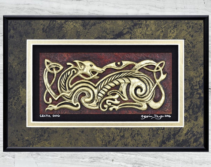 Celtic Dog -Cast Paper
